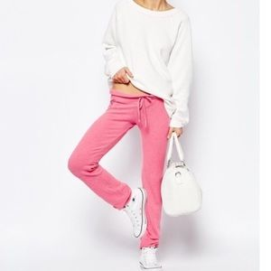 NWOT Wildfox Pink Banded Sweatpants